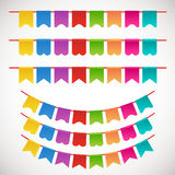 Vector Illustration of Colorful Garlands Royalty Free Stock Photography