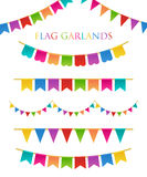 Vector Illustration of Colorful Garlands Stock Photography