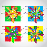 Vector illustration of colorful gift box Stock Image