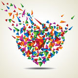 Vector illustration of colorful heart Royalty Free Stock Photos