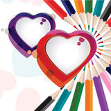 Vector illustration of a colorful heart shape Stock Image