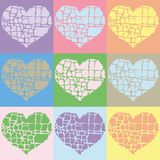 Vector illustration of colorful hearts Royalty Free Stock Photography