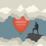 Vector illustration of colorful hot air balloons Stock Photography