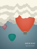Vector illustration of colorful hot air balloons Royalty Free Stock Image