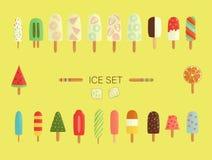Vector illustration of colorful ice-cream stock illustration