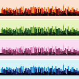 Vector illustration of colorful landscape panorama city background. Vector illustration of color landscape panorama city background Royalty Free Stock Photo