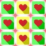 Vector illustration colorful love app icon Stock Photo