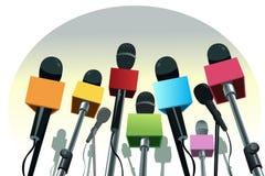 Microphones on the podium Stock Image