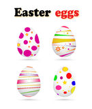 Vector illustration of colorful painted Easter eggs Royalty Free Stock Photos