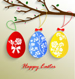 Vector illustration of colorful paper Easter eggs Royalty Free Stock Photography