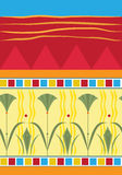 Papyrus Pattern. Vector illustration of a colorful papyrus pattern. Eps10 Royalty Free Stock Photo