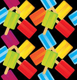 Popsicle Pattern. Vector illustration of colorful popsicles pattern. Eps10 Stock Images