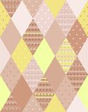 Vector illustration of colorful quilting. Seamless patchwork. Pattern Royalty Free Stock Photos