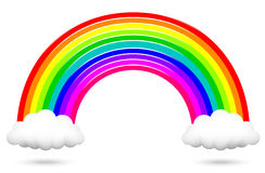 Colorful rainbow and clouds Royalty Free Stock Images