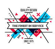 Vector illustration of colorful red and blue abstract compositio Stock Photography