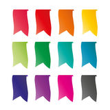 Vector illustration of colorful ribbons. For online stores on merchandise Royalty Free Stock Photography