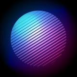Vector Illustration Colorful 80s Retro Style Striped Shape. Minimalism Halftone Circle. Vector Illustration Cool Colorful 80s Retro Style Striped Shape royalty free illustration