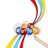 Colorful Snooker Ball. Vector illustration of colorful snooker ball with stick vector illustration
