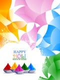 Vector illustration of Colorful splash for Holi background stock photos