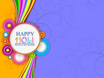 Vector illustration of Colorful splash for Holi background royalty free stock photography