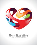 Vector illustration of a colorful stylized heart Royalty Free Stock Photography