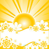 Vector illustration of colorful summer background Royalty Free Stock Photos