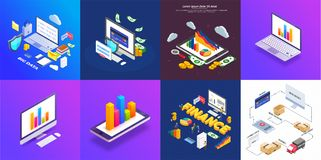 Vector illustration of colorful Timeline Infographic set can be. Used for workflow layout, presentation banner Stock Image