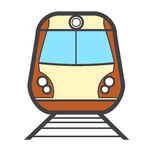Vector illustration colorful train icon or logo Royalty Free Stock Images