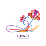 Vector illustration of colorful tropic flowers. Stock Image