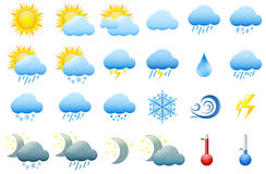 Color weather icons Stock Photo
