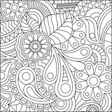 Coloring page illustration. Vector illustration of a coloring page with fine details Isolated on white background vector illustration