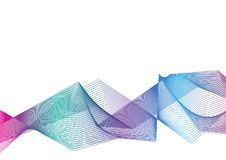 Vector illustration colourful abstract background wave line effe. Ct on white background stock illustration