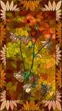 Vector illustration of columbine orange flowers. Royalty Free Stock Image