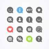 Vector Illustration Comic Communication Speech Bubble Clouds Icons. Comic Communication Speech Bubble Clouds Icons stock illustration