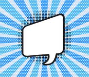 Vector illustration. Comic speech bubble of talk rectangular sha. Pe in pop art style. Empty element with contour for your dialogs Royalty Free Stock Image