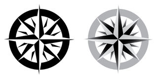 Vector illustration of compass Royalty Free Stock Images