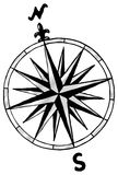 Compass rose. Vector illustration of a compass rose Royalty Free Stock Photo