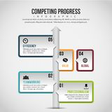 Competing Progress Infographic Stock Photography