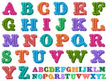 Vector illustration of a complete antiqua alphabet Royalty Free Stock Photo
