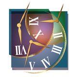 Vector illustration. Composition on the theme of time and clocks Royalty Free Stock Photography