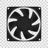 Vector illustration of computer fan. Isolated eps10 stock illustration