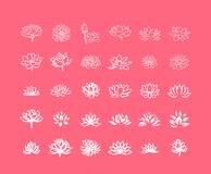 Vector illustration concept of Abstract vector lotus flower symbol icon royalty free illustration