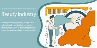 Vector illustration concept of beauty industry. Creative flat royalty free illustration