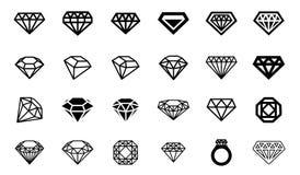 Vector illustration concept of diamond logo. Icon on white background royalty free illustration