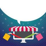 Vector illustration concept for e-commerce, online shopping Stock Photos