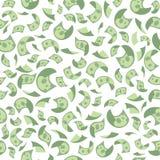 Vector illustration concept of flying money pattern. Seamless background stock illustration