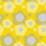 Vector illustration on concept geometry. Shape flowers for surface design, header, fabric. Laconic minimalist style seamless pattern. Concept two-color Stock Images