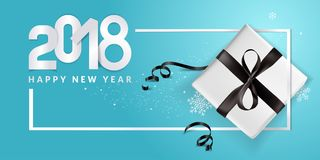 Elegant New Years greeting card. Vector illustration concept for greeting cards, web banner, flayer brochure, party invitation card Stock Photos
