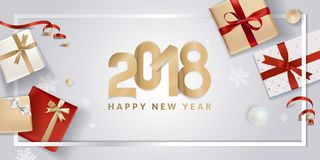 Elegant New Years greeting card Stock Images