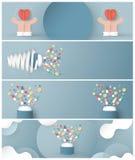 Vector illustration in concept of health insurance. Template element design is on pastel blue background for cover, web banner,. Poster, slide presentation. Art royalty free illustration